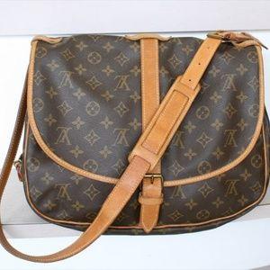 Authentic Louis Vuitton Saumur 35 Messenger